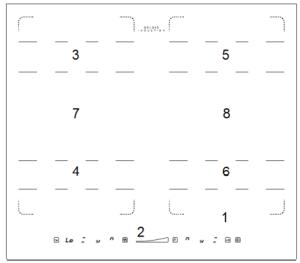 Płyta indukcyjna Solgaz SI-4T układ pól indukcyjnych