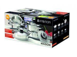 Zestaw garnków indukcyjnych Ambition Maison 16 elementów