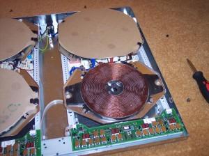 płyta indukcyjna przed montażem
