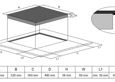 płyta indukcyjna Solgaz SI-4T montaż podłączenie
