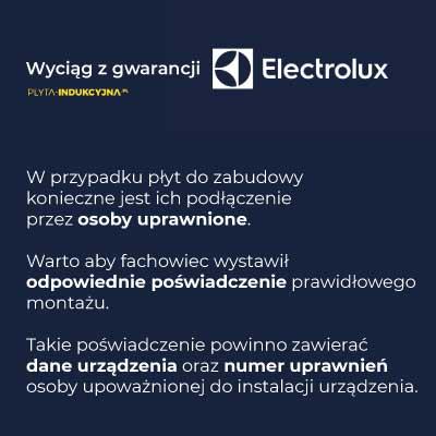 Podłączenie płyty indukcyjnej Electrolux